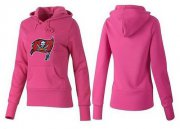 Wholesale Cheap Women's Tampa Bay Buccaneers Logo Pullover Hoodie Pink