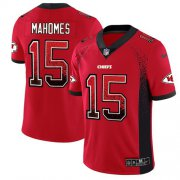 Wholesale Cheap Nike Chiefs #15 Patrick Mahomes Red Team Color Men's Stitched NFL Limited Rush Drift Fashion Jersey