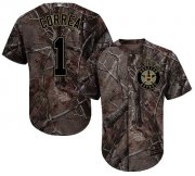 Wholesale Cheap Astros #1 Carlos Correa Camo Realtree Collection Cool Base Stitched MLB Jersey