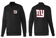 Wholesale Cheap NFL New York Giants Team Logo Jacket Black_1