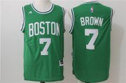 Wholesale Cheap Men's Boston Celtics #7 Jaylen Brown Green Stitched NBA adidas Revolution 30 Swingman Jersey