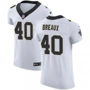 Wholesale Cheap Nike Saints #40 Delvin Breaux White Men's Stitched NFL Vapor Untouchable Elite Jersey