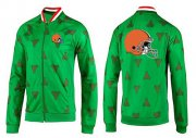 Wholesale Cheap NFL Cleveland Browns Team Logo Jacket Green
