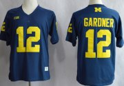 Wholesale Cheap Michigan Wolverines #12 Devin Gardner Navy Blue Jersey