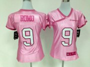 Wholesale Cheap Nike Cowboys #9 Tony Romo New Pink Women's Be Luv'd Stitched NFL Elite Jersey