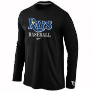 Wholesale Cheap Tampa Bay Rays Long Sleeve MLB T-Shirt Black