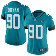 Wholesale Cheap Nike Jaguars #90 Taven Bryan Teal Green Alternate Women's Stitched NFL Vapor Untouchable Limited Jersey