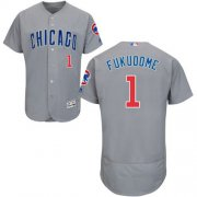 Wholesale Cheap Cubs #1 Kosuke Fukudome Grey Flexbase Authentic Collection Road Stitched MLB Jersey