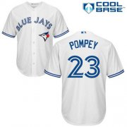 Wholesale Cheap Blue Jays #23 Dalton Pompey White Cool Base Stitched Youth MLB Jersey