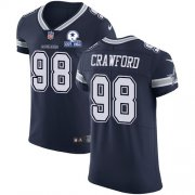 Wholesale Cheap Nike Cowboys #98 Tyrone Crawford Navy Blue Team Color Men's Stitched With Established In 1960 Patch NFL Vapor Untouchable Elite Jersey