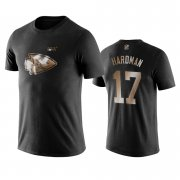 Wholesale Cheap Chiefs #17 Mecole Hardman Black NFL Black Golden 100th Season T-Shirts