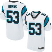 Wholesale Cheap Nike Panthers #53 Brian Burns White Men's Stitched NFL Elite Jersey