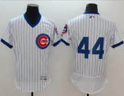 Wholesale Cubs #44 Anthony Rizzo White Flexbase Authentic Collection Cooperstown Stitched Baseball Jersey