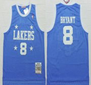 Wholesale Cheap Los Angeles Lakers #8 Kobe Bryant 2004-05 Light Blue Hardwood Classics Soul Swingman Throwback Jersey
