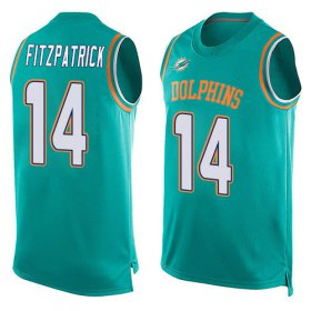Wholesale Cheap Nike Dolphins #14 Ryan Fitzpatrick Aqua Green Team Color Men\'s Stitched NFL Limited Tank Top Jersey