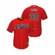 Wholesale Cheap Indians #30 Tyler Naquin Scarlet Alternate 2019 Cool Base Stitched MLB Jersey