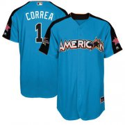 Wholesale Cheap Astros #1 Carlos Correa Blue 2017 All-Star American League Stitched Youth MLB Jersey