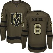 Wholesale Cheap Adidas Golden Knights #6 Colin Miller Green Salute to Service Stitched Youth NHL Jersey