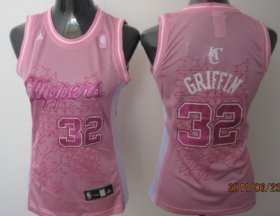 Wholesale Cheap Los Angeles Clippers #32 Blake Griffin Pink Womens Jersey