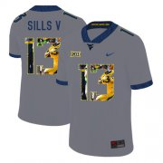 Wholesale Cheap West Virginia Mountaineers 13 David Sills V Gray Fashion College Football Jersey