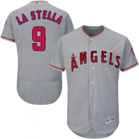 Wholesale Cheap Angels of Anaheim #9 Tommy La Stella Grey Flexbase Authentic Collection Stitched MLB Jersey