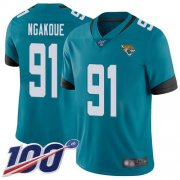 Wholesale Cheap Nike Jaguars #91 Yannick Ngakoue Teal Green Alternate Men's Stitched NFL 100th Season Vapor Limited Jersey