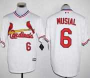 Wholesale Cheap Cardinals #6 Stan Musial White New Cool Base Cooperstown Stitched MLB Jersey
