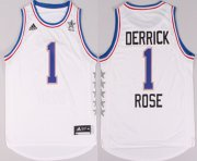 Wholesale Cheap 2015 NBA Eastern All-Stars #1 Derrick Rose Revolution 30 Swingman White Jersey