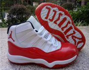 Wholesale Cheap Air Jordan 11 Kids Shoes Varsity Red/White