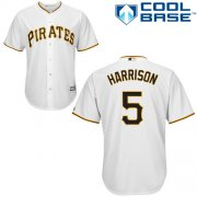 Wholesale Cheap Pirates #5 Josh Harrison White Cool Base Stitched Youth MLB Jersey