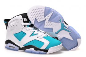 Wholesale Cheap Air Jordan 6 For Womens Shoes Blue/white