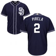 Wholesale Cheap Padres #2 Jose Pirela Navy blue Cool Base Stitched Youth MLB Jersey