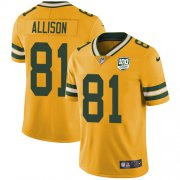 Wholesale Cheap Nike Packers #81 Geronimo Allison Yellow Men's 100th Season Stitched NFL Limited Rush Jersey