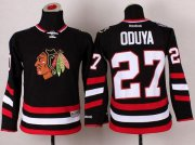 Wholesale Cheap Blackhawks #27 Johnny Oduya Black 2014 Stadium Series Stitched Youth NHL Jersey