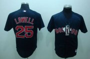 Wholesale Cheap Red Sox #25 Mike Lowell Stitched Dark Blue MLB Jersey