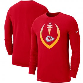 Wholesale Cheap Kansas City Chiefs Nike Fan Gear Modern Icon Performance Long Sleeve T-Shirt Red