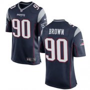Wholesale Cheap Nike Patriots #90 Malcom Brown Navy Blue Team Color Youth Stitched NFL New Elite Jersey