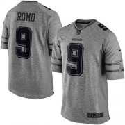 Wholesale Cheap Nike Cowboys #9 Tony Romo Gray Men's Stitched NFL Limited Gridiron Gray Jersey
