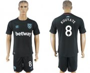 Wholesale Cheap West Ham United #8 Kouyate Away Soccer Club Jersey