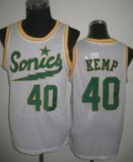 Wholesale Cheap Seattle Supersonics #40 Shawn Kemp 2003-04 White Swingman Jersey