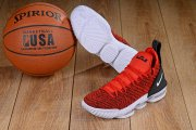 Wholesale Cheap Nike Lebron James 16 Air Cushion Shoes Red White-logo