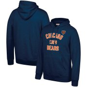Wholesale Cheap Chicago Bears Mitchell & Ness Team History Pullover Hoodie Navy