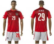 Wholesale Cheap Austria #29 Almer Red Home Soccer Country Jersey
