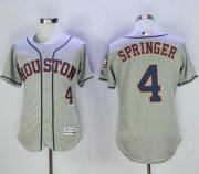 Wholesale Cheap Astros #4 George Springer Grey Flexbase Authentic Collection Stitched MLB Jersey
