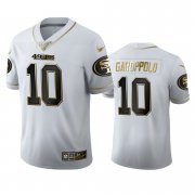 Wholesale Cheap San Francisco 49ers #10 Jimmy Garoppolo Men's Nike White Golden Edition Vapor Limited NFL 100 Jersey