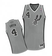 Wholesale Cheap San Antonio Spurs #4 Danny Green Gray Swingman Jersey
