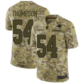 Wholesale Cheap Nike Panthers #54 Shaq Thompson Camo Youth Stitched NFL Limited 2018 Salute to Service Jersey