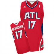 Wholesale Cheap Men's Atlanta Hawks #17 Dennis Schroder Red Swingman Jersey