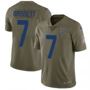 Wholesale Cheap Nike Colts #7 Jacoby Brissett Olive Men's Stitched NFL Limited 2017 Salute to Service Jersey