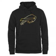 Wholesale Cheap Men's Buffalo Bills Pro Line Black Gold Collection Pullover Hoodie